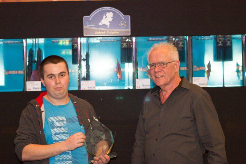 Mark Dobronyi en jurylid Leo Lammerse uit Nederland.