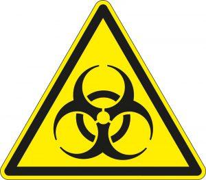 Illustratie: Logo biologische besmettingsgevaar