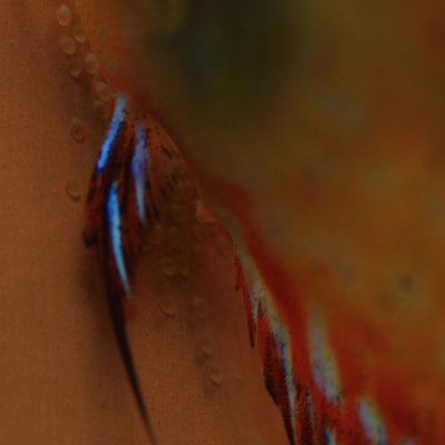 Stendker - Pigeon Blood Red: Start met de volgende rij eitje leggen
