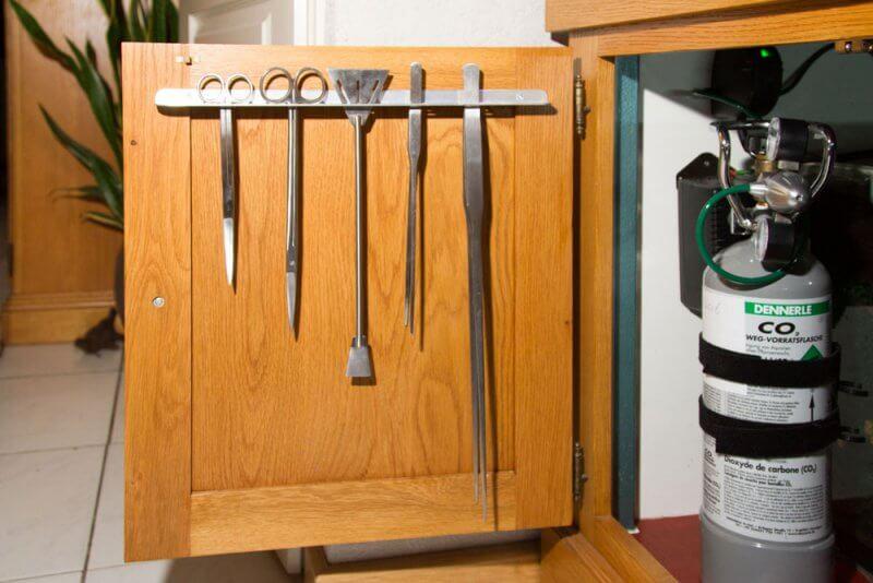 Het gereedschap is gemakkelijk toegankelijk tijdens het onderhoud.
