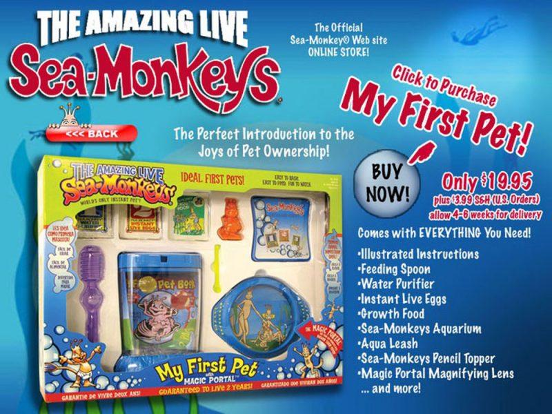 Advertentie : Artemia's kweken - Sea-Monkeys