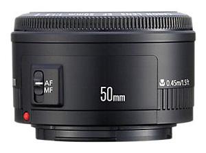 Aquarium fotografie hardware: Vaste brandpuntlens Canon 50mm