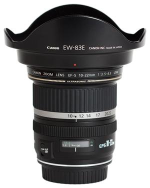 Aquarium fotografie hardware: Groothoeklens Canon EFS 10-22mm