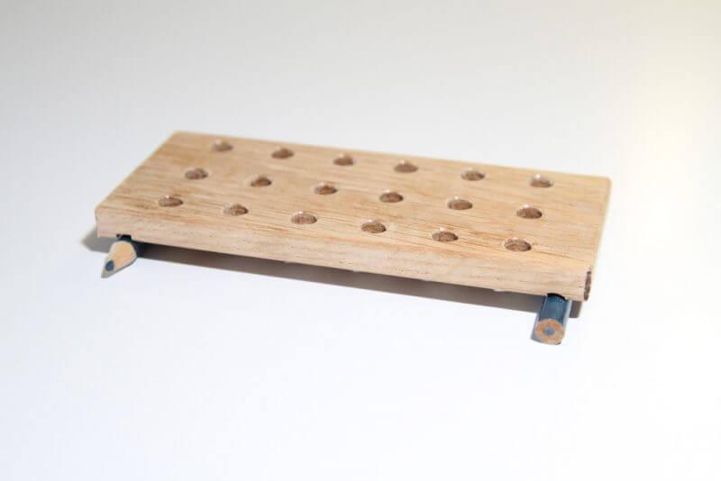 Gelatine vulmal van hout