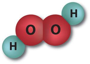 Illustratie: Structuurformule waterstofperoxide